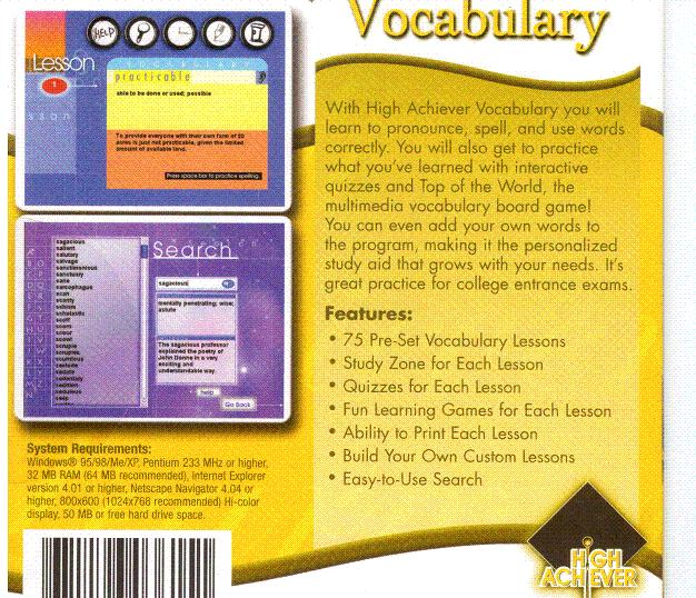 High Achiever Vocabulary